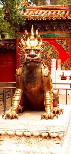 Qilin at The Forbidden City - The Mythical creature Qilin at the Forbidden City in Beijing, China