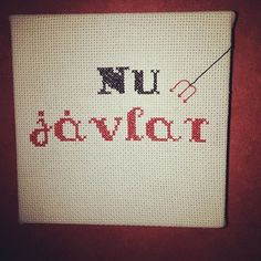 Geriljabroderi til Skolstugan Cross Stitch, Arts And Crafts, Teaching, Embroidery, Sewing, My Love, School, Crochet, Funny