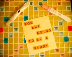 You can ask your husband to play scrabble and put this on the inside!