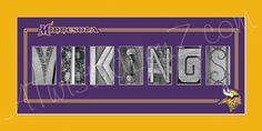 Minnesota Vikings Football Alphabet Photo Collage (via AlphabetphotosbyMP on Etsy)