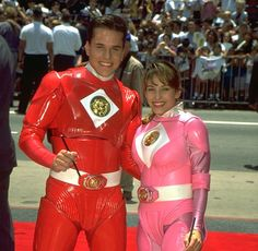 For the fans of Tommy and Kimberly from Power Rangers. Rocky Power Rangers, Power Rangers 2017, Pink Power Rangers, Power Rangers Movie, Pink Ranger Kimberly, Kimberly Ann, Power Rangers Pictures, Mmpr Movie, Desenho Do Power Rangers