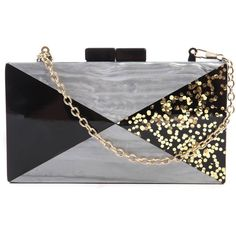 32f0f7790999 Like Dreams Marble   Glitter Hard Case Clutch (405 DKK) ❤ liked on Polyvore  featuring bags