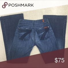 7 For All Mankind Jeans Worn a few times, no rips no damage 7 For All Mankind Jeans Boot Cut