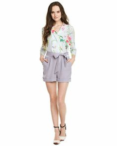 "Some of you have to get in on this: Ted Baker ""Antiguo"" Mint Wallpaper Print Romper"