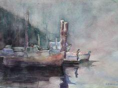 Reflection.  Watercolour