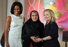 Maryam Durani, Michelle Obama and Hilary Clinton