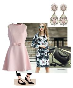 """""""Floral Coat"""" by raya81084 on Polyvore featuring Queen Mulock, Chicwish, Ballerina Bags, women's clothing, women, female, woman, misses and juniors"""