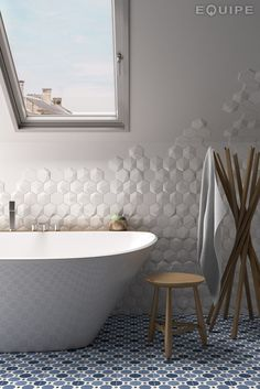 Wunderbar EQuipe Tiles: Magical3_Umbrella_WhiteMatt_Bath