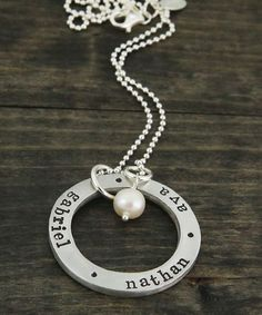 """""""chunky circle of love"""" necklace, double sided for lots of names!"""