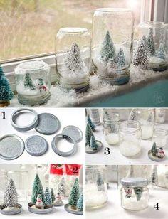 2. Зачем покупать те самые шары со снегом, если можно сделать их своими руками?