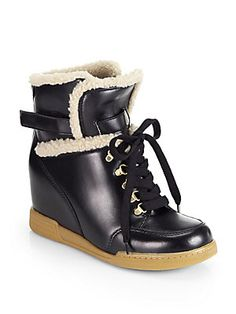 Marc by Marc Jacobs Winter Warming Leather Lace-Up Boots