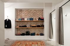 Exposed brick/open shelves...love this look. New location for year 5?!?! ;-)