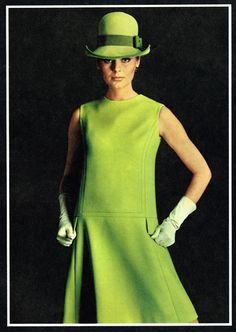60's fashion..i love this, probably couldn't wear it in real life (not the hat anyway)