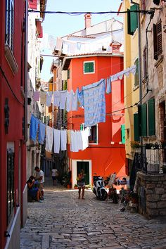 """Laundry day"" Rovinj, Croatia"