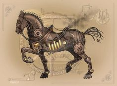 Steam  Horse by Vermin-Star photoshop resource collected by psd-dude.com from deviantart