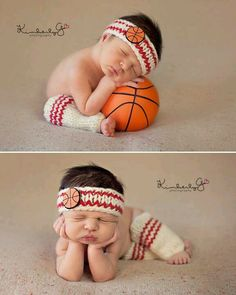 Oh my the cutness, she's a little baller. Will so need this to be made for me if I have a daughter period!! Newborn Photos, Baby Photos, Basketball Outfits, Basketball Baby Pictures, Little Babies, Cute Babies, Baby Kids, Basketball Nursery, Basketball Mom
