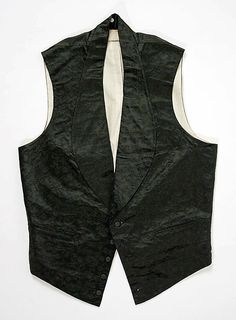Waistcoat Date: ca. 1860 Culture: American Medium: silk Dimensions: Length at CF: 24 3/8 in. (61.9 cm) Credit Line: Gift of Mrs. Frederick van Beuren Joy, in memory of Mrs. Jacob Harsen Halsted, 1983
