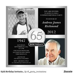 65th Birthday Invitations Then Now Photos Party Ideas 85th Gold