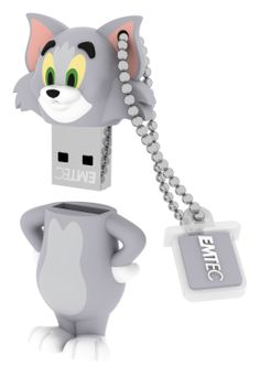 Tom USB flash drive, 3/4 open with chain - 8GB #EMTEC #Tom&Jerry #FlashDrive
