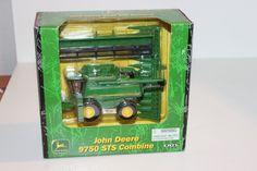 Ertl 1/64 John Deere 9750 STS Combine NIB Corn and Grain Bean Head Harvester H2F #Ertl #JohnDeere