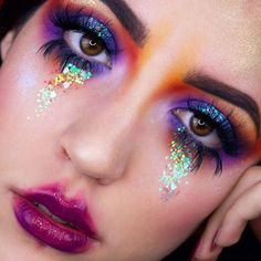 Pretty Mess Inspired by @alyssamarieartistry Day 88/100 #100daysofmakeupchallenge Last pic for this look check the other two if you haven't already Using: @sugarpill (entire) Burning Heart palette (Buttercupcake, Flamepoint, Love + and Poison Plum) @urbandecaycosmetics Moonshadow @nyxcosmetics_italy Luna pigment in the inner corner q @maccosmetics Violet and Reflects Teal pigments @peekaboo_weseeyou Heartbreaker lashes ________________________________________ #undiscovere...