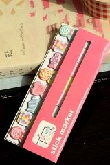 Photo: Cute Sticky Memo Marker Set