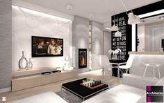 Biokominek w saloni - zdjęcie od ARCHITETTO - Salon - Styl Minimalistyczny - ARCHITETTO
