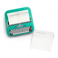 """""""Listen, I know you wanted a typewriter, but I figured this typewriter note-dispenser would serve the same purpose.""""Just Mustard Wrote-A-Note 2000, $7, available at Just Mustard. #refinery29 http://www.refinery29.com/2016/11/131180/inexpensive-christmas-gifts#slide-7"""