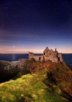 Dunluce Castle along the North Antrim coast, Northern Ireland