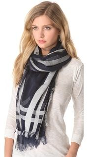 Love Quotes Knotted Tassel Scarf | SHOPBOP