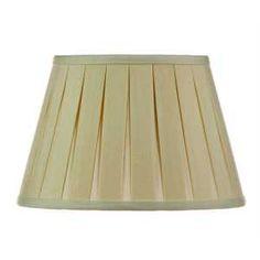 "International Shades Beige 16"" Open Box Pleat Linen Shade"