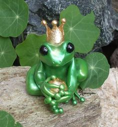 kiss a frog sculpture | Frog Prince Fairy Tale Sculpture by andromedagallery