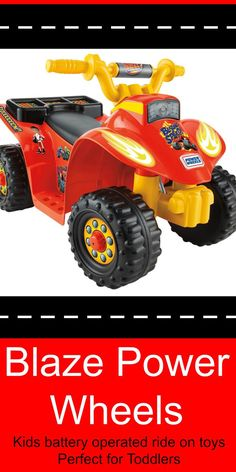 Blaze Power Wheels - 6 volt ride toys for toddlers. Battery operated ride on toys