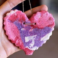 Valentine Marbled Salt Dough Heart