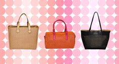 ae5b2a6b945d The new statement handbag features textured cut-outs in all shades and  shapes. Marshalls
