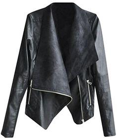 31f51f48ebb Plus Size Casual PU Leather Jacket Women Classic Zipper Short Motorcycle  Jackets Lady Autumn Soft Leather Basic Coat Black