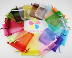 7x9cm multi color option Organza Pouches Wedding Gift Storage Bags Jewelry Pouch 19020004