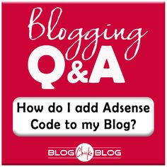 How - TO: Add Widget/PlugIn for Adesense CODE!! Blogging Tips - How do I add Adsense Code to my Blog - BlogChickaBlog.com