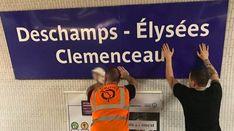 Paris renames Metro stations to honour World Cup win Metro Paris, Metro Station, Champs Elysees, Travel Information, World Cup, Noms, Midi, Public, Internet