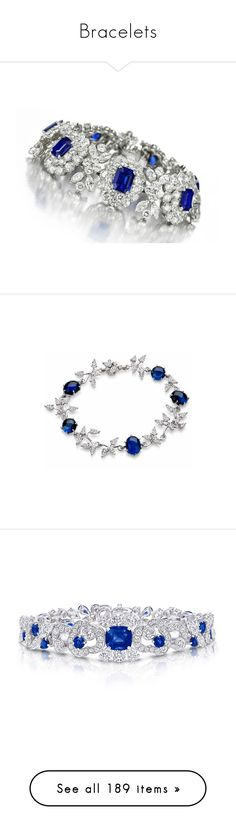"""""""Bracelets"""" by sakuragirl ❤ liked on Polyvore featuring jewelry, bracelets, joias, flower jewelry, nuage, blossom jewelry, flower jewellery, 18k jewelry, sparkle jewelry and blue nile"""