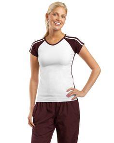 women's colorblock t-shirt - Buy discount sport-tek ladies v-neck colorblock t-shirt at Gotapparel.com.