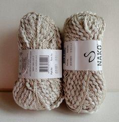 Beige Cotton yarn ,2 Skeins ,One skeins 50gr,soft ,All seasons yarn. $12.00, via Etsy.