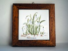 hand painted snowdrop