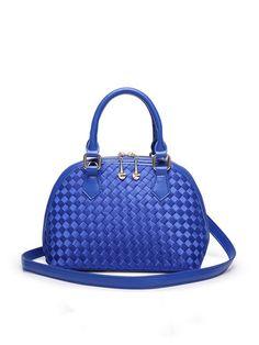 Royal Blue Zipper Casual Nylon Top Handle