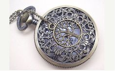 Hollow Out Pocket watch Locket Necklacewith a by newhomefeeling, $5.99 * IN LOVE WITH THIS!!!*