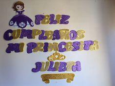 Letrero cumple princesita Sofía