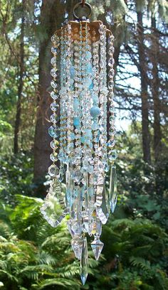 Gypsy Interior Design Dress My Wagon| Serafini Amelia| Travel Trailer Design Decor-Sea and Sky Crystal Wind Chime.
