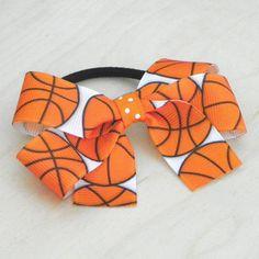 Basketball Boutique Ponytail Holder  Bow Pony by fortheloveofzebra, $2.00