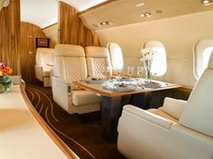Global Express XRS - Interior - I had the pleasure of greeting a client on this jet at Santa Ana, CA (SNA) airport a few months ago.  Gorgeous aircraft!