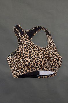 Leopard print sports bra <3 www.soffe.com